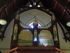 North Adelaide. St Laurence's Catholic Church built in 1868. This pipe organ was added in 1910.
