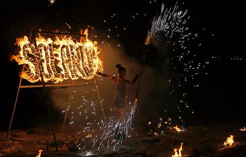 Ibiza fire show