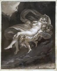 """""""Psyché enlevée par les Zéphyrs"""" de P.-P. Prud'hon (Petit Palais, Paris)"""