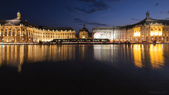 Symboles de Bordeaux... Place de la Bourse + Miroir d'eau + Tramway