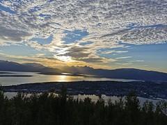 Solnedgang ved Ersfjordfjellene