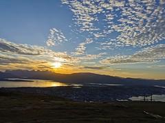 Solnedgaang over Kvaløya