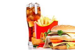Unhealthy food concept - popular fast food