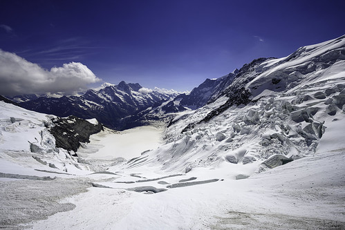 "View of the ""Eismeer"" - Jungfraugebiet - Bern - Switzerland"
