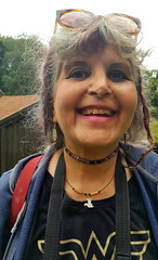 Happy wife with new squirrel necklace
