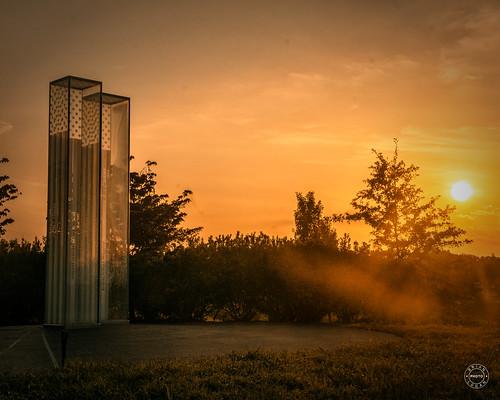 Sunrise at the September 11 Memorial