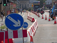 Traffic Mode Separation On Queens Road Bristol: Walkers, Cyclists and Fossil Fuel Burners