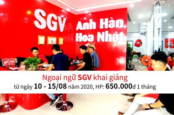 SGV, sgv khai giảng khóa học tiếng Anh, Hàn, Hoa, Nhật