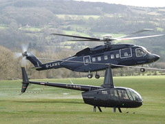G-LARD Robinson R66 Turbine (Heli Air Ltd) With G-LAWX Sikorsky S-92A Helibus (Starspeed Ltd) Two Helicopters