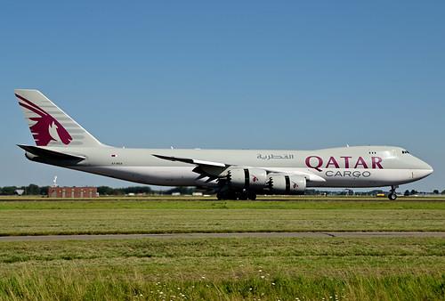 A7-BGA B747-87UF cn 37564 Qatar Airways Cargo 200805 Schiphol 1004