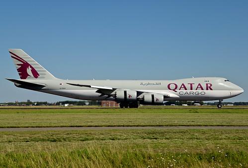 A7-BGA B747-87UF cn 37564 Qatar Airways Cargo 200805 Schiphol 1003