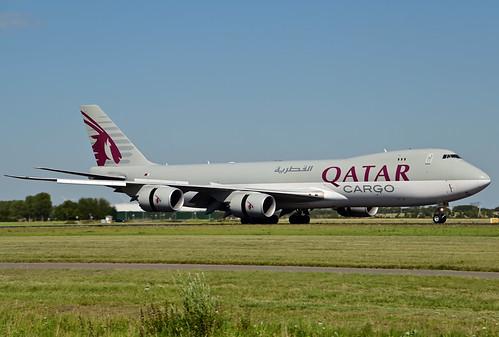 A7-BGA B747-87UF cn 37564 Qatar Airways Cargo 200805 Schiphol 1001