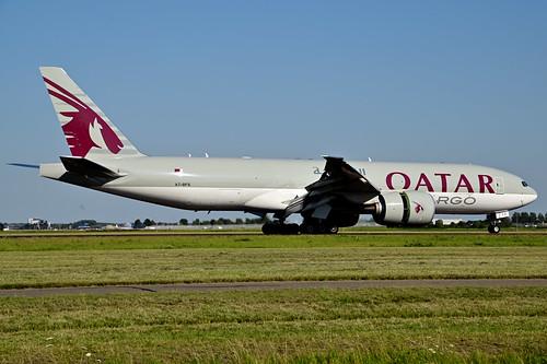 A7-BFS B777-F cn 66337 Qatar Airways Cargo 200805 Schiphol 1003