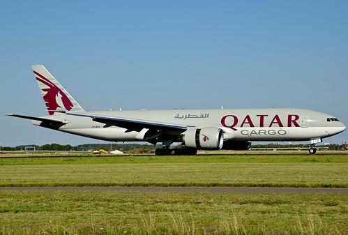 A7-BFS B777-F cn 66337 Qatar Airways Cargo 200805 Schiphol 1001