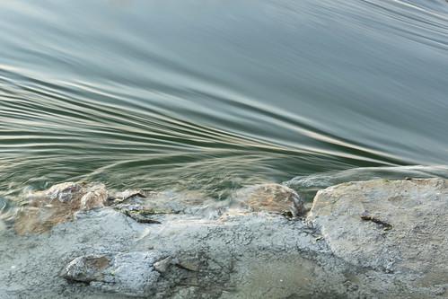 Pliegues en el agua