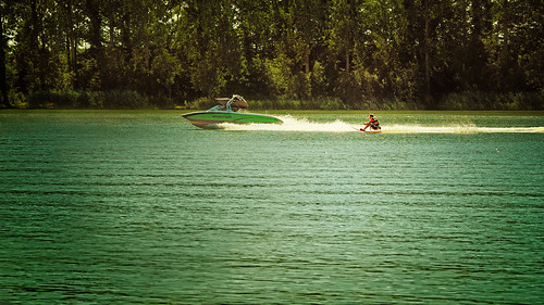 Do you know water skiing while sitting? - Definitely fun - and refreshing :-)