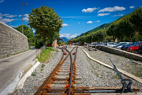 Entrevaux / Manual railroad switch