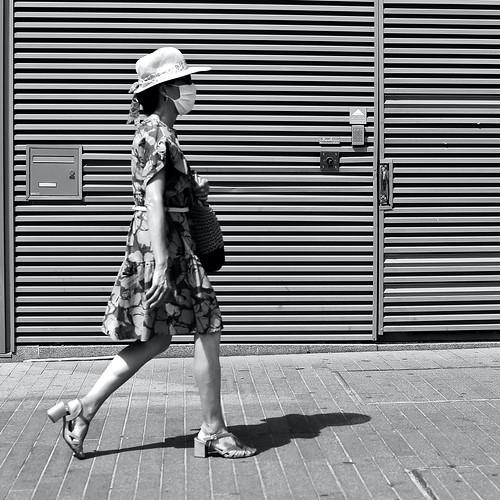 Under the summer hat