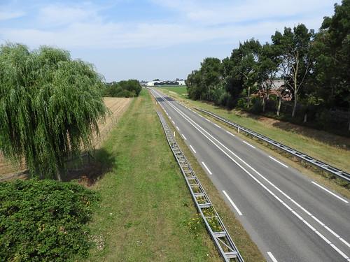 N267 richting Andel vanaf viaduct Veldstraat bij Aalburg
