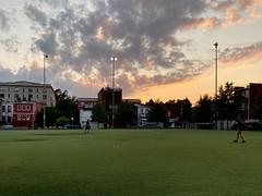 sunset at Stead Park
