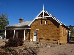 Historic Blinman in the Flinders Ranges. An old copper mining town established in 1863. This stone state school was built in 1883. Closed in 1980.