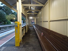 Long Covered Bench