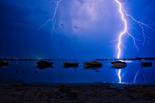 Onweer aan het Veluwemeer
