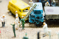 Miniature world in a toy museum