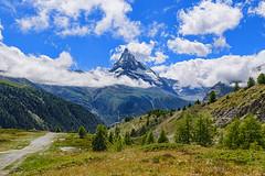 The Matterhorn with less clouds