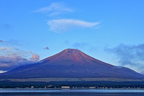 Mt.Fuji, when it has a red appearance