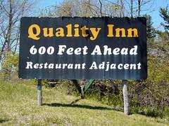 Quality Inn sign near Breezewood