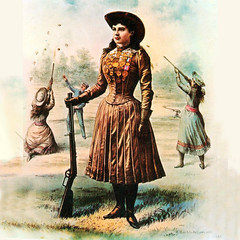 Annie Oakley Learns to Shoot