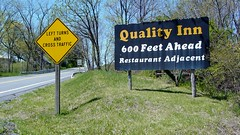 Signs on US 30 outside Breezewood