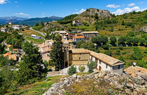 Ascros / View from Ruins of the feudal Chateau des Grimaldi