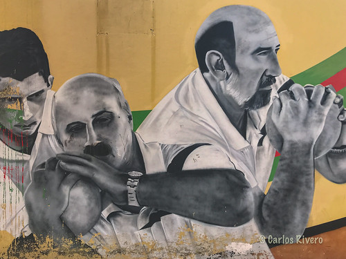 Mural sobre los Bolos, Torrelavega, Cantabria.