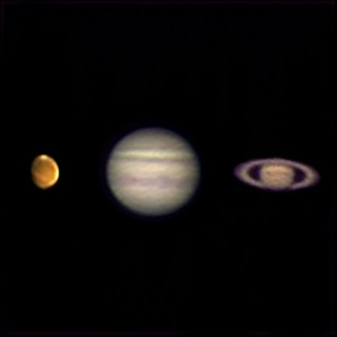 Mars, Jupiter and Saturn Aug 11th/12th 2020