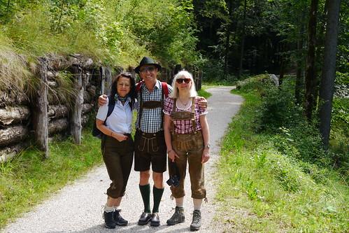 Lederhosen-Trio / Leather trousers trio