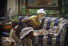 """""""Le rouleau japonais"""" de James Tissot (Musée d'Orsay, Paris)"""