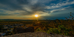 As close as i got to a Sunset picture 15/08/2020 from The Notre-Dame du Roc Castel chapel des Le Caylar France. (Sun dropped behind a Big Cloud and no Red sky like id Hoped)