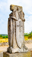 knights Templar statue @ le Caylar France