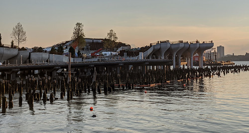 Little Island Pilings Panorama
