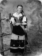 Portrait of Mary Cathcart Tennant dressed as a Bohemian Gypsy 30 Aug 1876