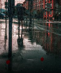 Waiting for the bus somewhere in the rain
