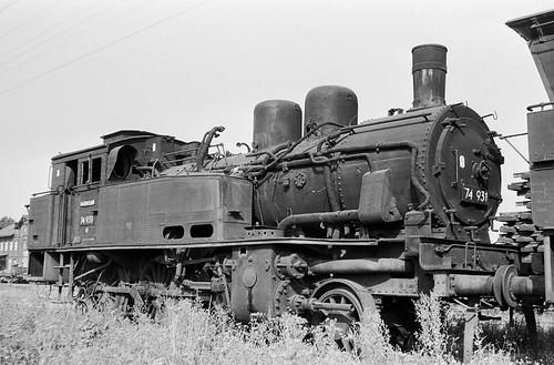 DR 74 931 (ex K.P.u.G.H.St.E. T 12 7722 Erfurt; Hohenzollern 1913) Bw Leipzig Hbf West Z