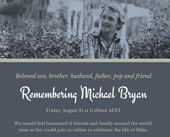 Service of thanksgiving and celebration of the life of Michael Anthony Bryan