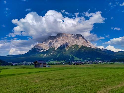 View from Lermoos to Schneefernerkopf (Zugspitzarena)