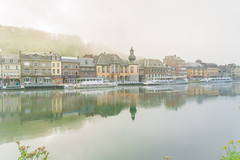 Dinant on a early misty morning