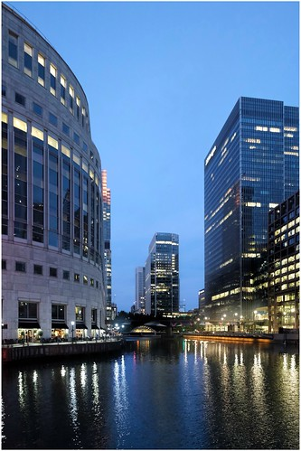 Evening in Canary Wharf