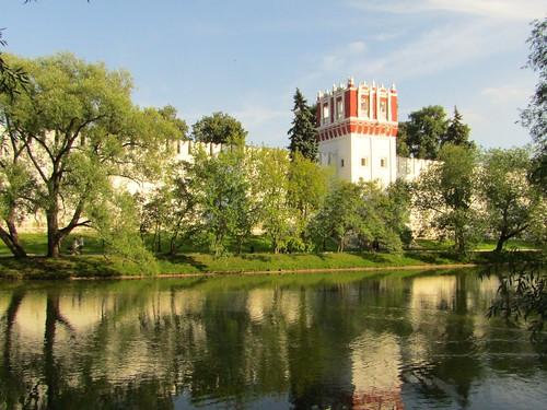 a pond near Novodevichy Convent