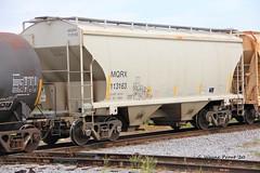 MQRX 113163 2 Bay Covered Hopper Car MacQuarie Rail Inc.